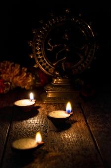 Lumières de diwali, inde