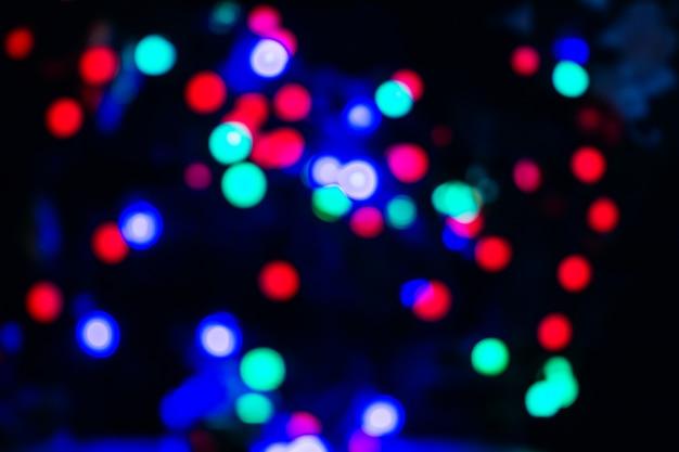 Lumières du nouvel an en flou