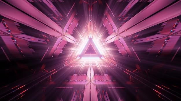 Lumières en forme de triangle