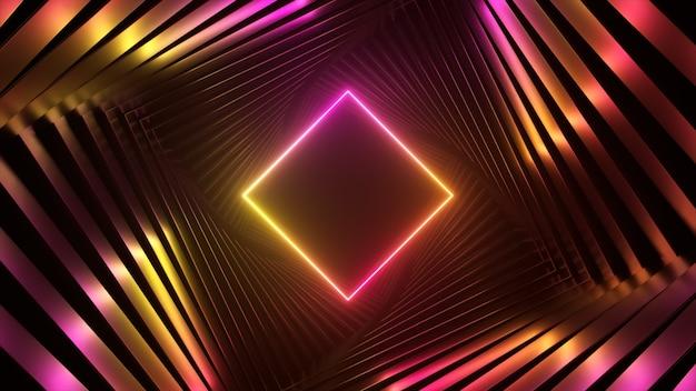 Lumières futuristes ultraviolettes abstraites
