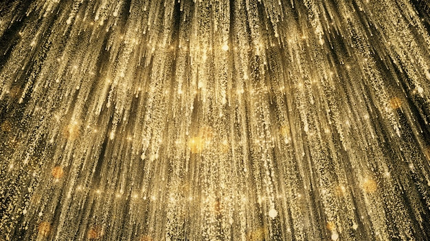 Des lumières scintillantes dorées sur les scènes de fête et de remise de prix.
