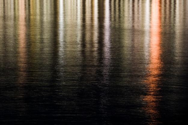Lumières se reflétant dans l'eau