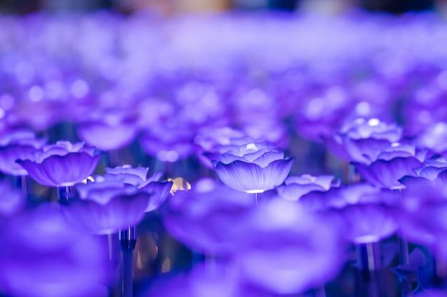 Les lumières sont décorées comme des fleurs pour créer une belle lumière la nuit au festival.