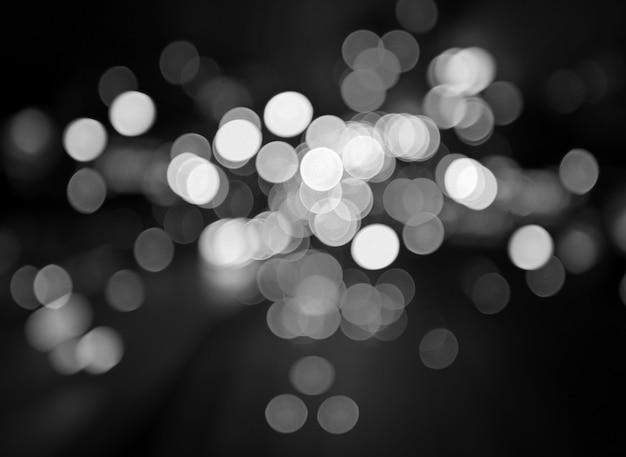 Lumières de la ville de nuit bokeh fond, noir et blanc