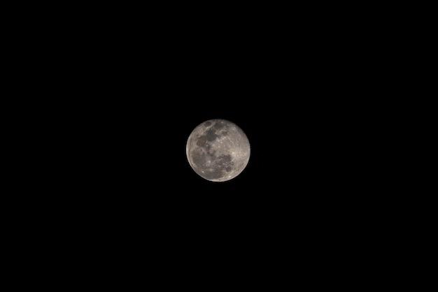 La lune sur bangkok, thaïlande
