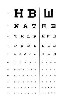 Lunettes devant un tableau des yeux. arrière-plan de l'appareil optique