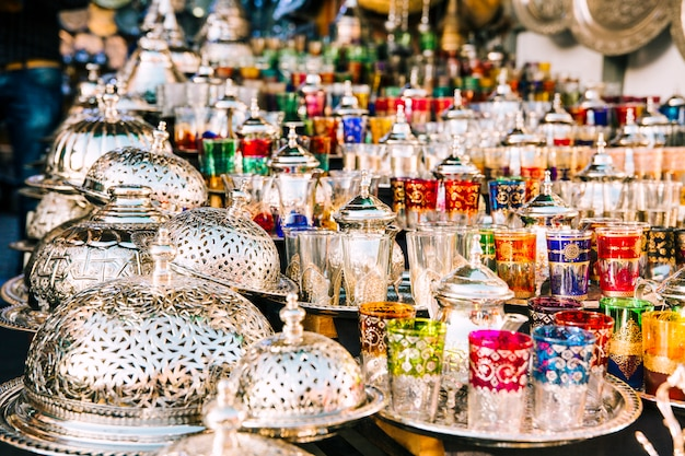 Lunettes sur le marché au maroc