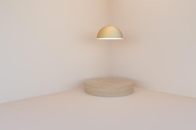 Lustre minimal avec scène de podium pour l'affichage du produit, rendu 3d