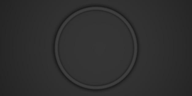 Luxe simple de fond de cadre de cercle pour placer l'illustration 3d de texte et de produits