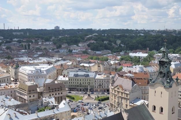 Lviv. vue depuis une haute tour.