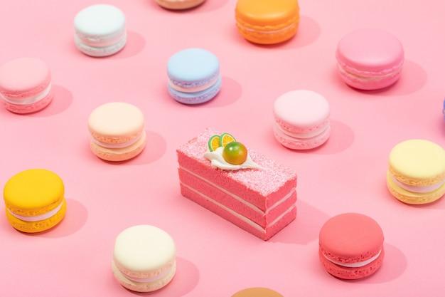 Le macaron dessert français est un goût d'amour