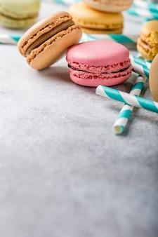 Macarons assortis français