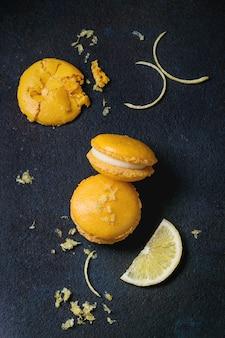 Macarons aux agrumes et chocolat blanc