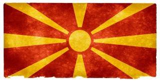 Macedonia flag grunge