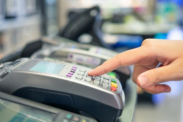 Machine de balayage de carte de crédit