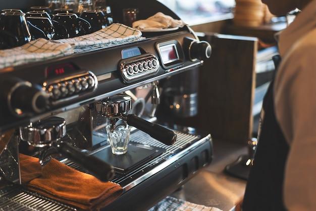 Machine à café closeup