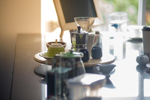 Machine à café à l'heure de boire du café.