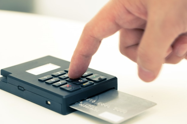 Machine à cartes de crédit, paiement pour les achats en ligne