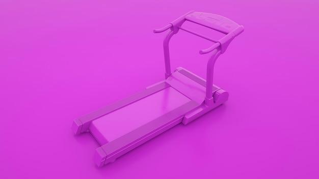 Machine en cours d'exécution isolée sur fond violet