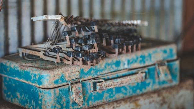 Machine à écrire le clavier rust