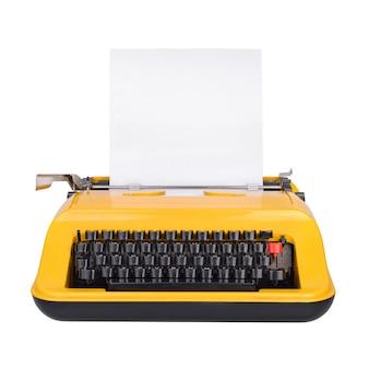 Machine à écrire jaune avec espace copie