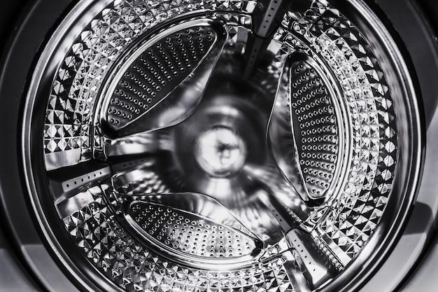 Machine à laver à tambour en acier