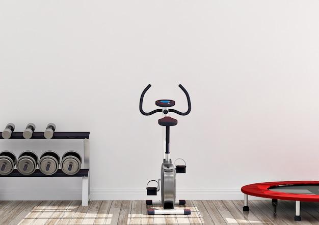 Machine à vélo dans la salle de gym