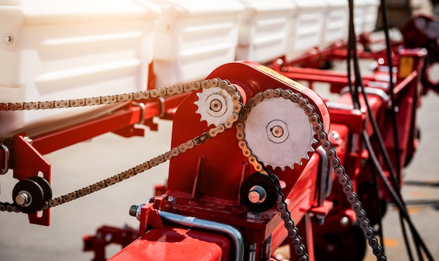Machines et équipements agricoles modernes. détails industriels.