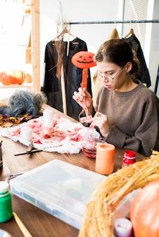 Mâchoire de peinture design moderne pour costume d'halloween