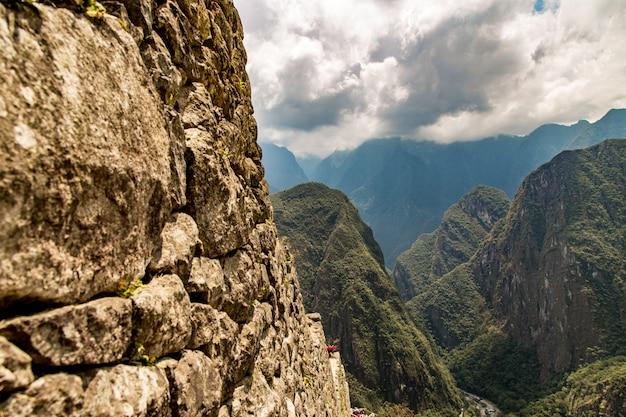 Machu picchu, cusco, pérou, amérique du sud. un site du patrimoine mondial de l'unesco
