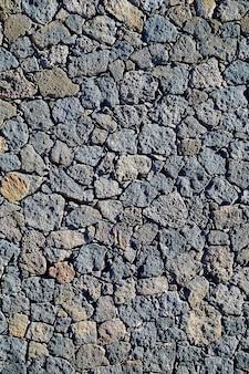 Maçonnerie noire avec des pierres volcaniques fuerteventura