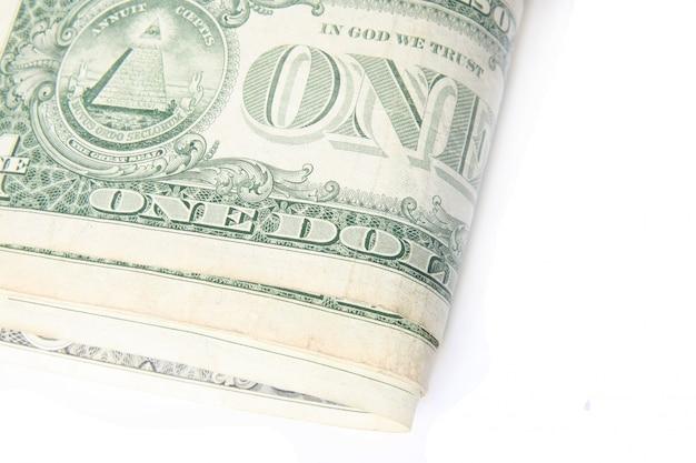 Macro billet d'un dollar