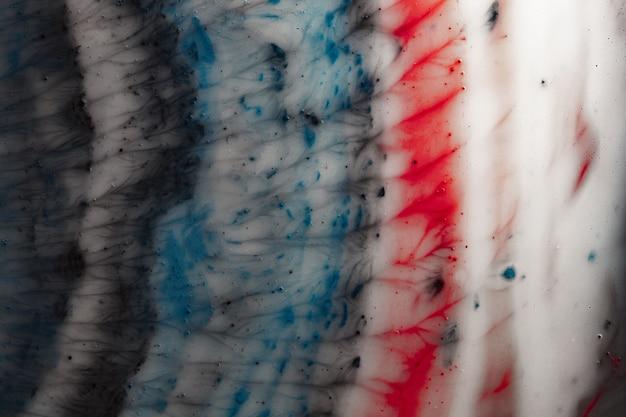 Macro d'espace coloré. belle abstraction de texture de liquide sous grossissement. photo macro