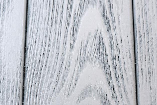 Macro de gros plan fond blanc texturé en bois