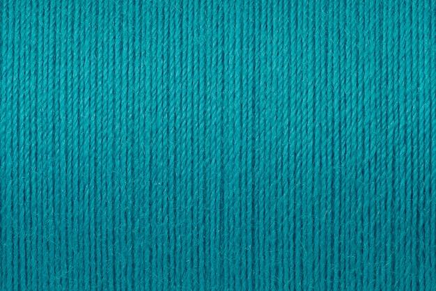 Macro image de fond de texture fil turquoise