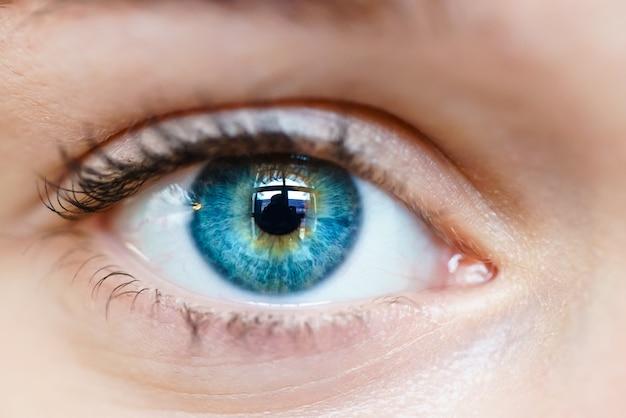 Macro image de l'oeil humain