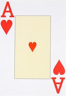 Macro de la lettre de l'as de cœur