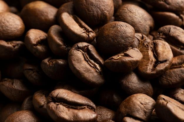 Macro photo de grains de café.