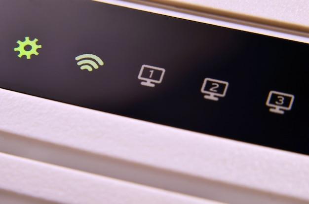 Macro shot de modem internet