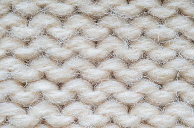 Macro texture tricoté beige