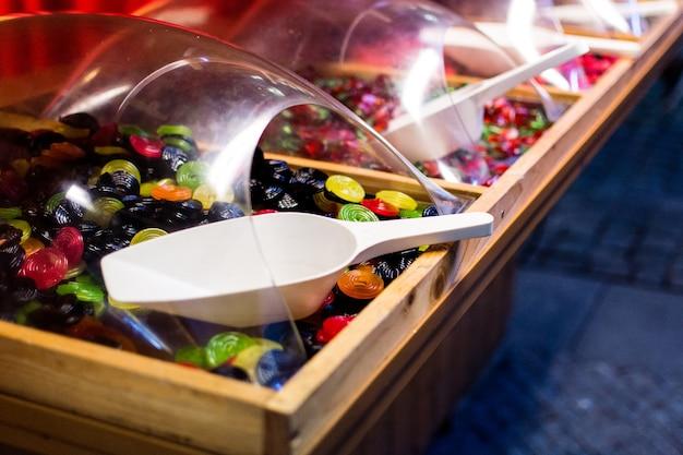 Magasin de bonbons à la gelée sucrée