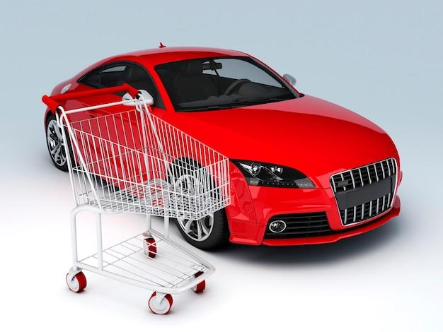 Magasin de voiture 3d concept de vente