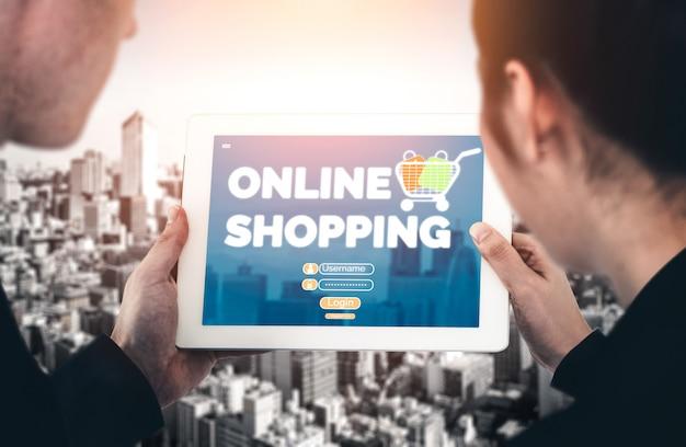 Magasinage en ligne et technologie de la monnaie internet
