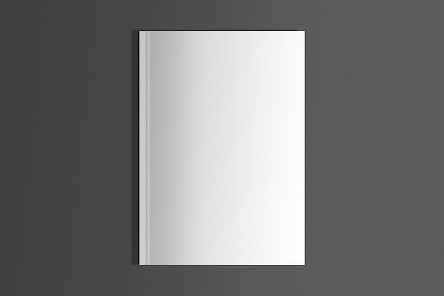 Magazine blanc isolé