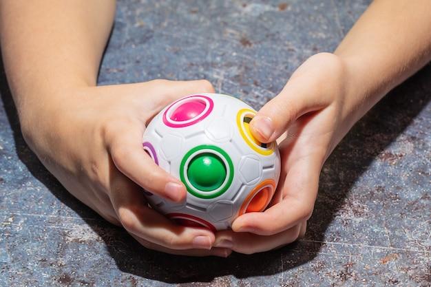 Magic rainbow ball fidget ball speed cube puzzle ball cube casse-tête jouet éducatif pour enfants, adultes
