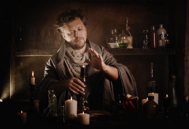 Le magicien prépare une potion