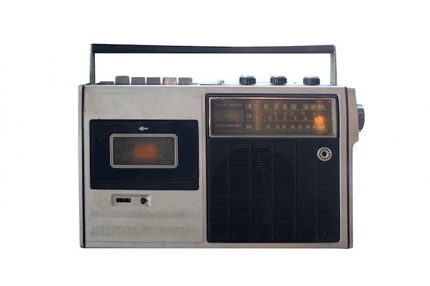 Magnétophone à cassettes stéréo boombox portable rétro désuet des années 80