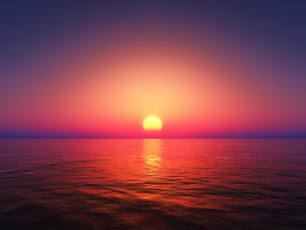 Magnifique coucher de soleil coloré