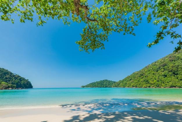 Magnifique mer turquoise à la mer d'andaman