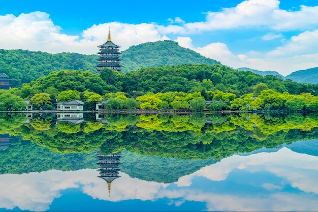 Le magnifique paysage du lac ouest à hangzhou